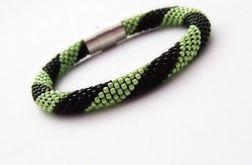 Bransoletka wąż czarno-zielona1