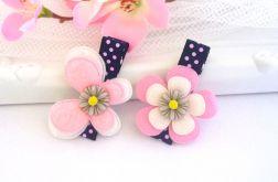 Nomma Spinki do włosów motylek + kwiatek