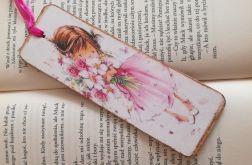 Zakładka do książki z różami fioletowymi