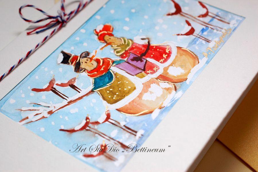 Karnet malowany ręcznie -Akwarela Nr 10-