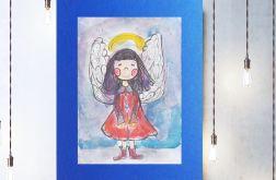 Aniołek obrazek do dziecięcego pokoju nr 8