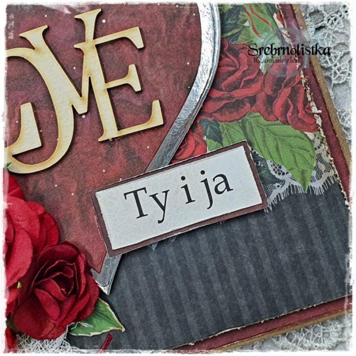 Kartka Walentynkowa vol. 1 - srebrnolistka
