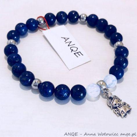 Bransoletka z Lapisu lazuli model 3