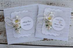 Kwiatowa kartka ślubna z pudełkiem Az3