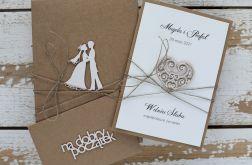 Rustykalna kartka ślubna z personalizacją 12