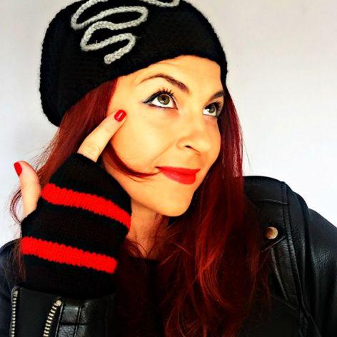 Rockowe Mitenki Red Fashion Mix