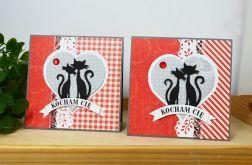 Walentynkowa kartka z kotami