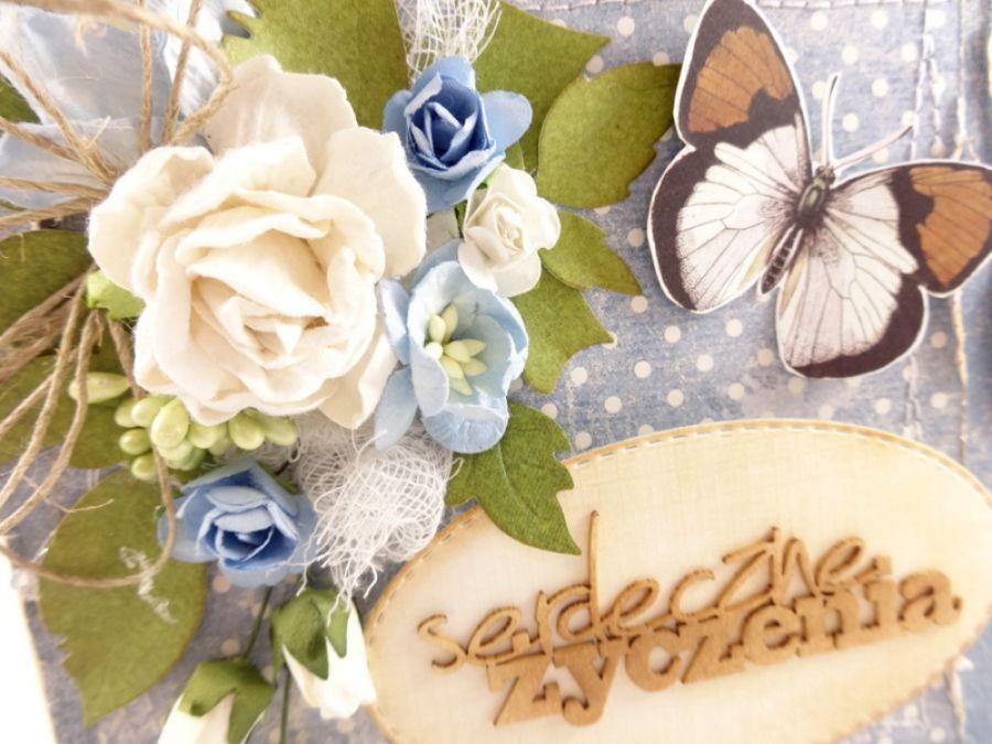 Kartka imieninowa z motylem