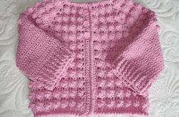 Sweterek bąbelkowy -różowy