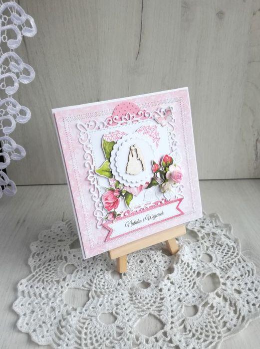 Kartka ślubna 3D Coral Romance 2