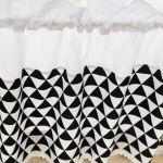 Zazdrostki w stylu scandi trójkąty czarne