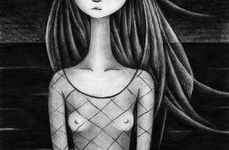 Dziewczynka - oryginalny rysunek 0307