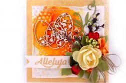 Kartka wielkanocna - pomarańczowa