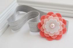 FairyBows * opaska * kwiatek * różowy