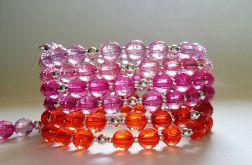 Bransoletka ombre różowa