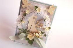 Obrączki - kartka ślubna w pudełku