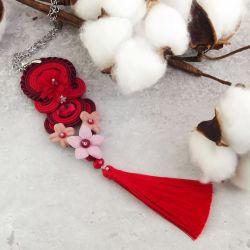 Midnox 3 - kwiatowy wisior sutaszowy