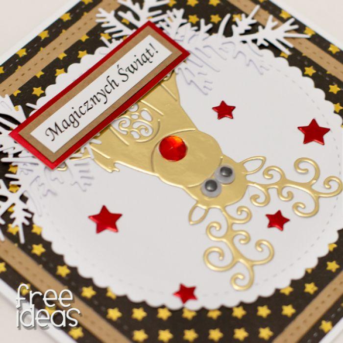 Renifer * Kartka świąteczna KBN1917