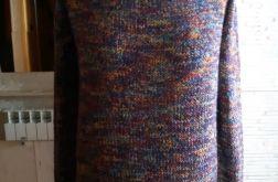 Kolorowy sweter na wiosnę bawełna wełna s/m
