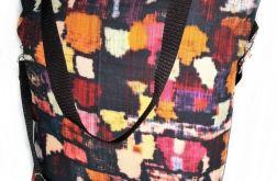Torebka damska torba shopper wzór krata