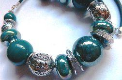 Porcelana w kolorze petrol blue, zestaw biżut