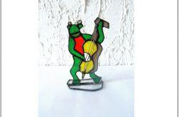 Żaba grajek, figurka z witrażu OKAZJA!