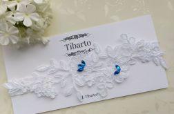 Ślubna koronkowa podwiązka na wymiar