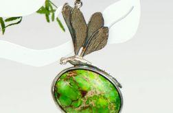 Cesarska ważka -naszyjnik srebrny z jaspisem
