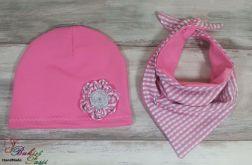 Komplet różowy dla dziewczynki