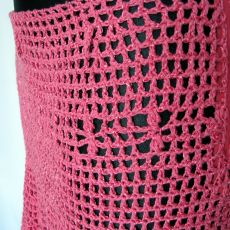 Różowa ażurowa