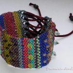 bransoleta boho hippie beading freeform