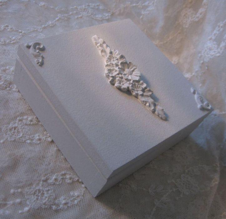 skrzyneczka na obrączki kopertę