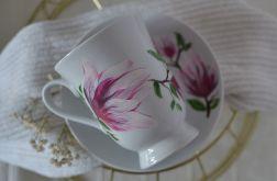 """Filiżanka 300 ml ze spodkiem ,,Różowa magnolia"""""""