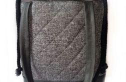 Torebka damska torba shopper pikowana szary