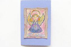 Kartka malowany aniołek nr 2