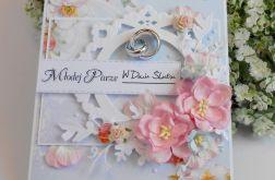 Ślubna kartka z obrączkami 02
