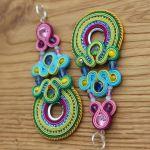 Kolczyki sutasz,długie i kolorowe-Fiorella